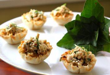 Krok po kroku receptury Tartlets do sałatek i sposób stworzyć napełnianie