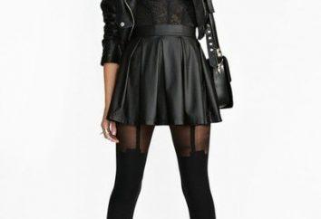 Robe noire avec des collants noirs. Qu'est-ce collant à porter sous une robe noire