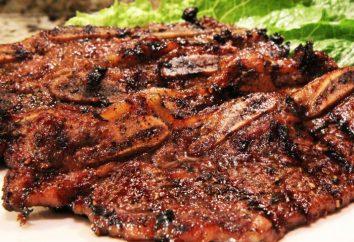 piatto ricco – stecca di manzo. Il modo tradizionale di cucinare e la varietà di ricetta di base