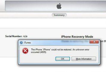 4005 – błąd iTunes. Jak mogę to naprawić?