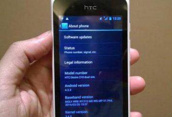 HTC Desire 210: comentários e características