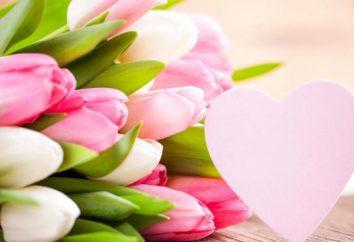 Ramos de tulipa em 8 de março – o presente perfeito para uma mulher