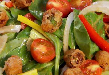 Comment préparer des salades à la hâte avec des biscuits?