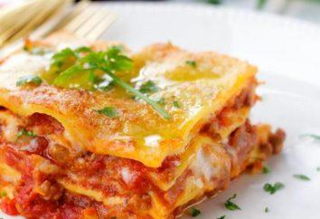 ricetta Lasagna con carne macinata con besciamella. Delicious e soddisfacente