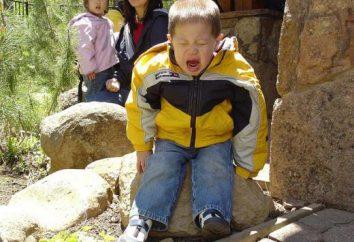 Niños (2 años) a menudo se vuelve histérica y caprichosa. El estado mental del niño. La histeria de un niño