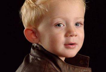 Corte de cabelo para um menino de 2 anos. Em que parar?