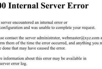 ¿Cuál es 500 Error interno del servidor? ¿Qué hacer si usted vio una inscripción de 500 Error interno del servidor (YouTube)?