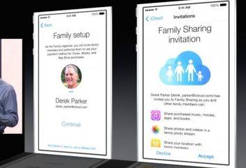 """""""Rodzina dostępu» iOS 8: Konfiguracja. Punkt dostępowy 8 iOS"""