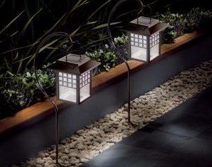 lumières de jardin avec batterie solaire