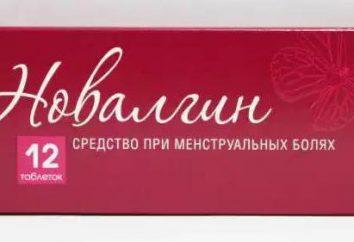 """A droga """"Novalgin"""": instruções de uso, preço. Observações sobre a aplicação da menstruação """"Novalgina"""""""