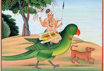 Alte Traditionen des Hinduismus. Kama Gott als Symbol der Liebe und der sinnlichen Leidenschaft
