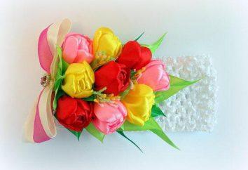 Tulipes kanzashi: une classe de maître sur la création d'accessoires