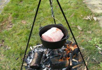 Cosa cucinare a fuoco nel calderone? Ricette per il calderone. calderone in ghisa con coperchio in ghisa