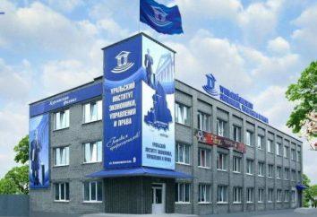 Ural Instytut Zarządzania, Ekonomii i Prawa w Jekaterynburgu: opis, specjalność i wynik mijania