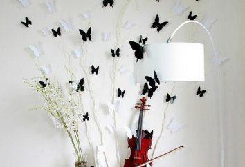 papillon décoratif pour l'intérieur de leurs propres mains: guide étape par étape