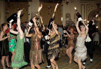 Nous avons plaisir simple mais de bon goût: une fête dans le style Gatsby