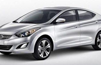 """""""Hyundai Elantra"""" – carro de classe C"""