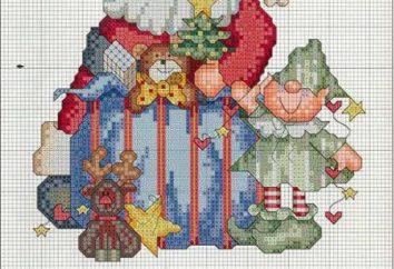 Boże Narodzenie krzyż ścieg. Schemat Boże Narodzenie opis stanowiska haft