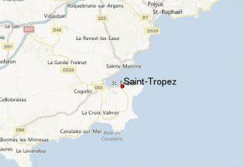 Saint-Tropez: localização no mapa da França, descrição e atrações