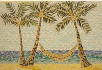 Mosaik der Fledermaus Fliesen, angelegt mit ihren Händen