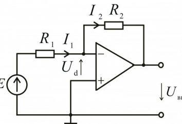 O op-amp: o tipo de circuito, o princípio de funcionamento. O circuito de amplificação do amplificador operacional não-inversora. Esquema DC de voltagem do amplificador amplificador operacional