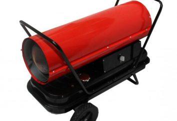 generatori di calore Diesel: tipi, caratteristiche, assegnazione. Generatore termico per l'aria di riscaldamento