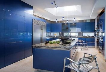 Wnętrze w kolorach niebieskim. Jaki kolor niebieski idzie we wnętrzu sypialni i kuchni?