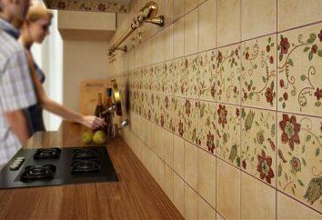 Avental na cozinha: vantagens de telhas cerâmicas e as sutilezas de sua instalação