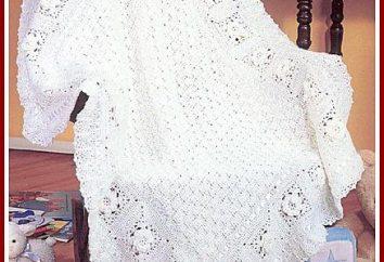 Plaid pour extraire bébé au crochet: le schéma. Enfants ajourées couverture crochet