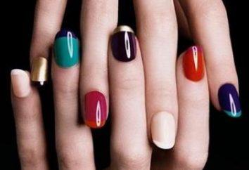Piękne połączenie kolorów na paznokciach