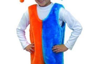 Buffoon Anzug mit ihren eigenen Händen für Kinder und Erwachsene