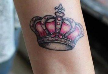 Le tatouage le plus populaire: une couronne sur son poignet