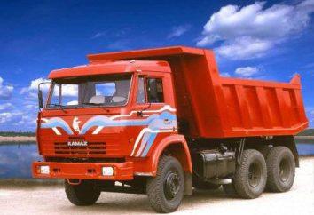 """Skład """"KAMAZ"""": ciągniki, Platforma ciężarówki, skrzynie i budowlane wywrotki"""