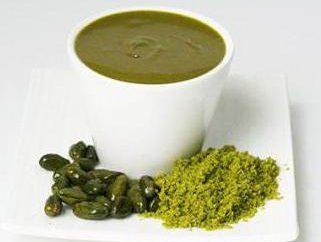 Pâte de pistache: description et modes de cuisson du produit