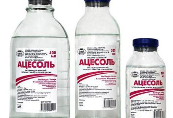 """""""Acesol"""": istruzioni per l'uso e le indicazioni"""