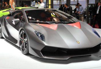 Vue d'ensemble de la voiture Lamborghini Sesto Elemento