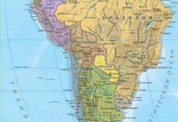 Paese e l'area del Sud America. risorse turistiche del continente