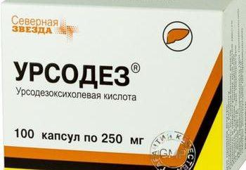 """A droga """"Ursodez"""" – instruções de uso. Tablets """"Ursodez"""": análogos e comentários"""