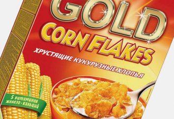 Płatki kukurydziane bez cukru: kalorycznej na 100 gramów