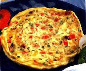 Omelette aux légumes – recette de cuisine avec une photo