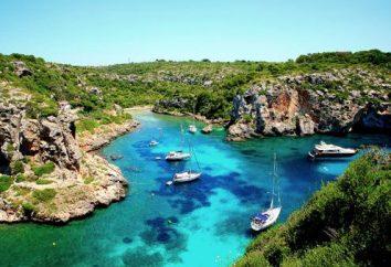 Minorque. Avis sur les curiosités et les endroits les plus intéressants de l'île