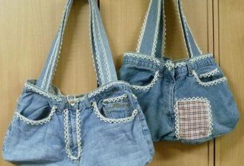 Jak uszyć torebkę ze starych dżinsów (niektóre nowe modele)