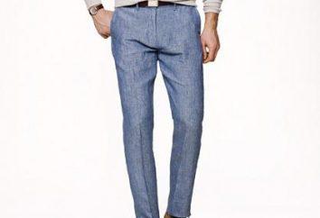 pantaloni estivi di lino. Uomo passioni: la convenienza e stile