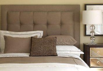 Łóżko z tapicerowanym zagłówkiem: elegancji i piękna