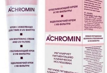 """Creme cosmético """"Achromin"""": instruções de uso"""