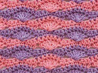Bicolour de crocheted de padrão interessante: esquema, descrição, aplicação