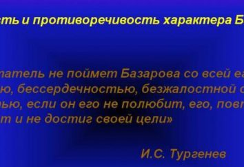 Aphorismes Bazarov comme reflet du monde de héros