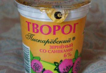 """Curd """"Piskaryovsky"""" – de alta qualidade e saboroso"""