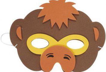 maschera di scimmia. Come rendere le vostre mani?