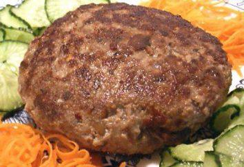 cotolette Ricetta di maiale e manzo. Hamburger classico: un passo per passo la ricetta